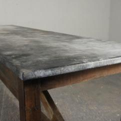 Zinc Kitchen Table Ella's Stage 1 Vintage Industrial Island Dining Modern Rustic Pine And Top
