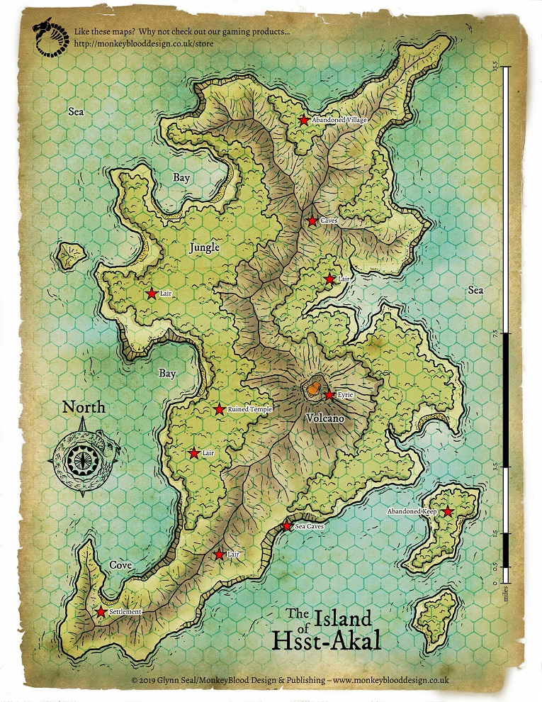 Island of Hsst Akal Map 1 - Full LORES