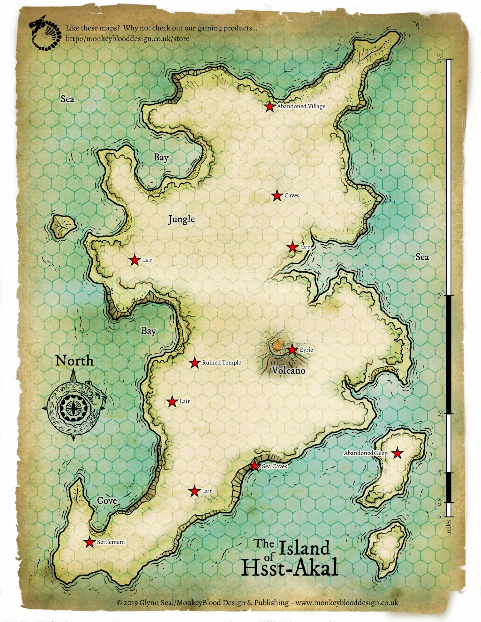 Island of Hsst Akal Map 4 - Full Fog