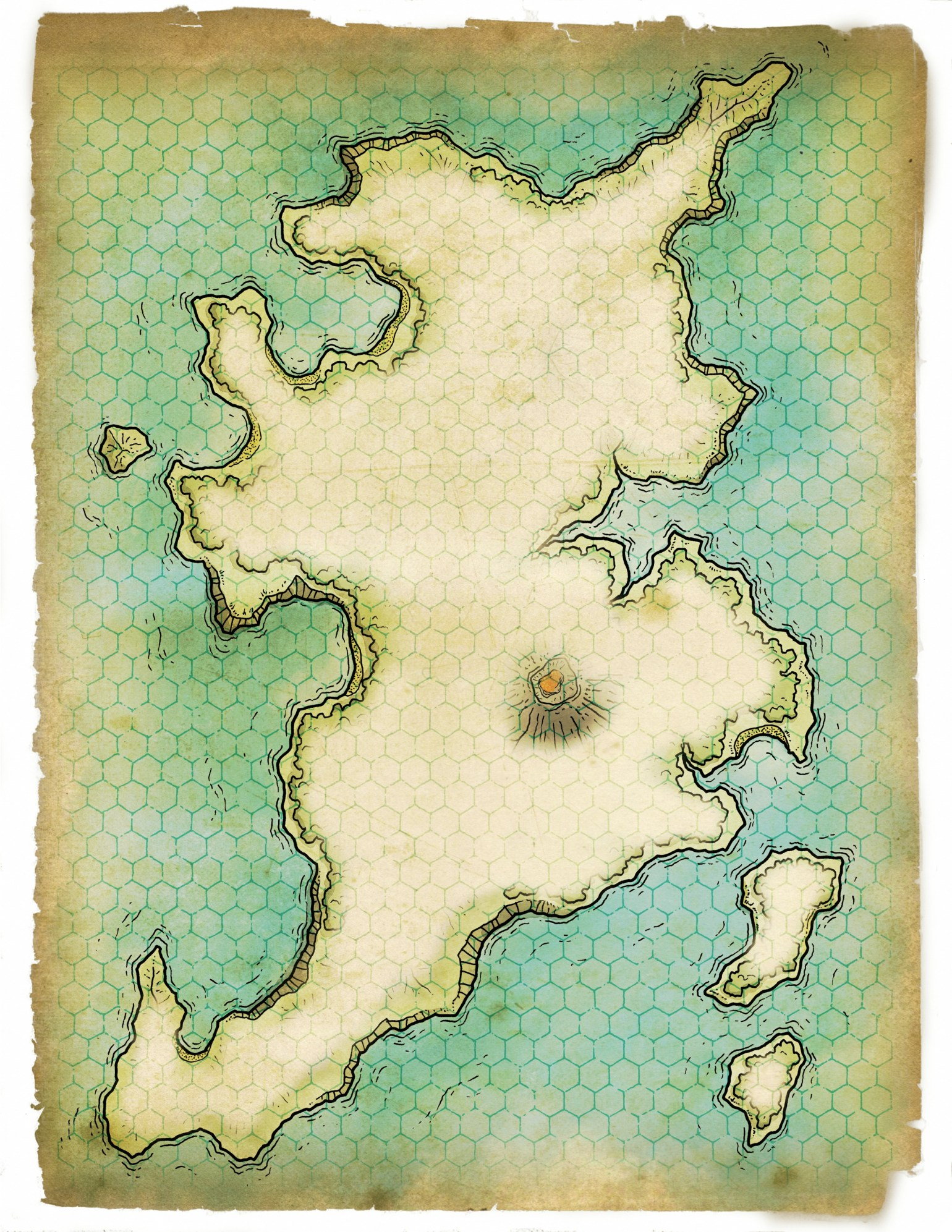 Island of Hsst Akal Map 6B - Commercial Fog Grid
