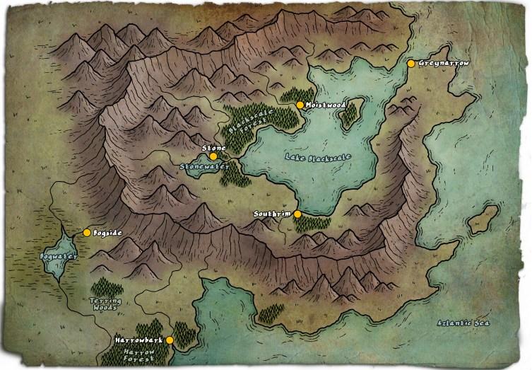 Duchy of Bearclaw Map - Copyright Glynn Seal