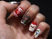 Christmas With Cute Polish   Monkey Nail Art