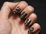 green monkey nail art