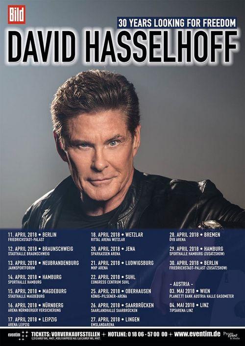 David The Hoff Hasselhoff Auf Tour 2018 Ankündigungen