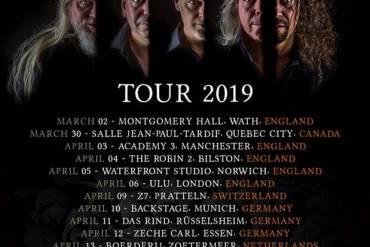 Social Media Kampagne gegen Krebs der Prog-Rocker ARENA sowie Tour 2019