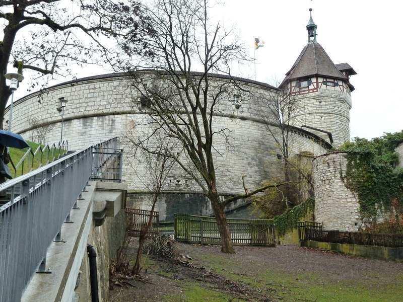 Munot Fortress in Schaffhausen, Swizterland