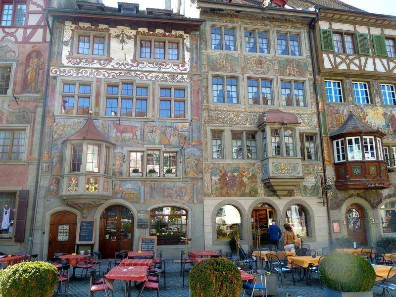 frescos in the Old Swiss town of Stein am Rhein