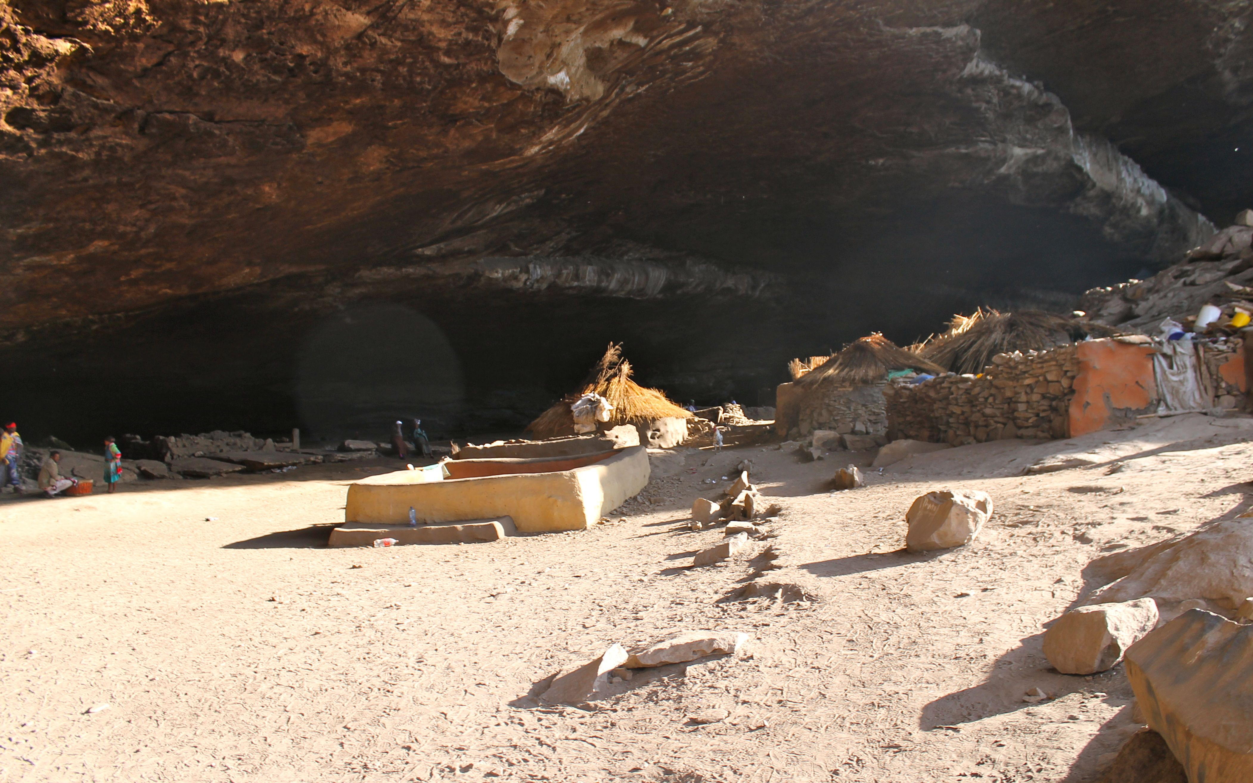 Entrance to the Fertility caves in South Africa