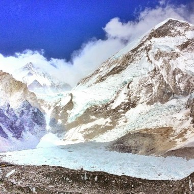 Small avalanche at Everest Base Camp
