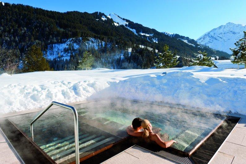 Enjoying the mountain views at Travel Charme Ifen Hotel in Kleinwasteral.