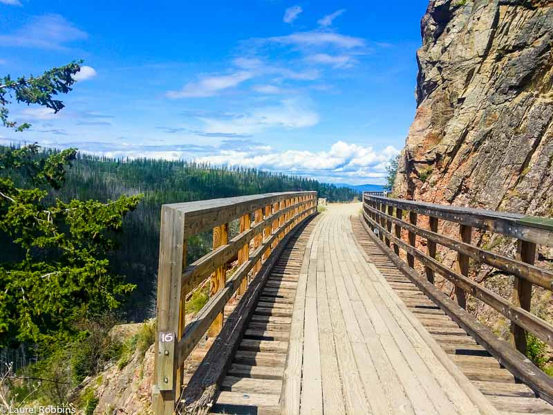 The Myra Canyon scenic cycle route in Kelowna, British Columbia