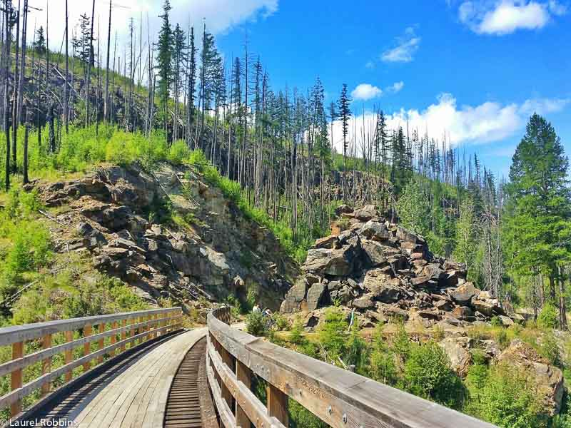 Myra Canyon scenic cycle route in Kelowna