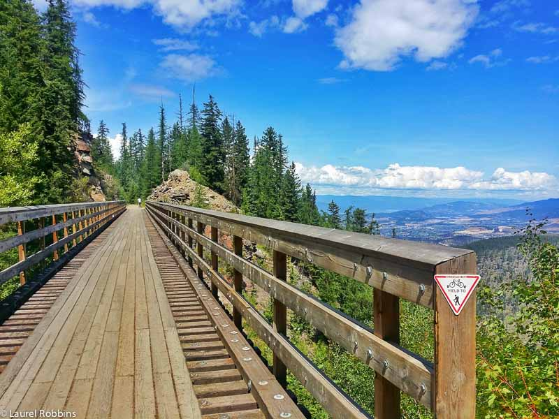 Views of the Okangan Valley from Myra Canyon, a  scenic cycle route in Kelowna