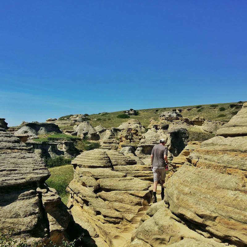 Hiking along the Hoodoo Interpretive Trail