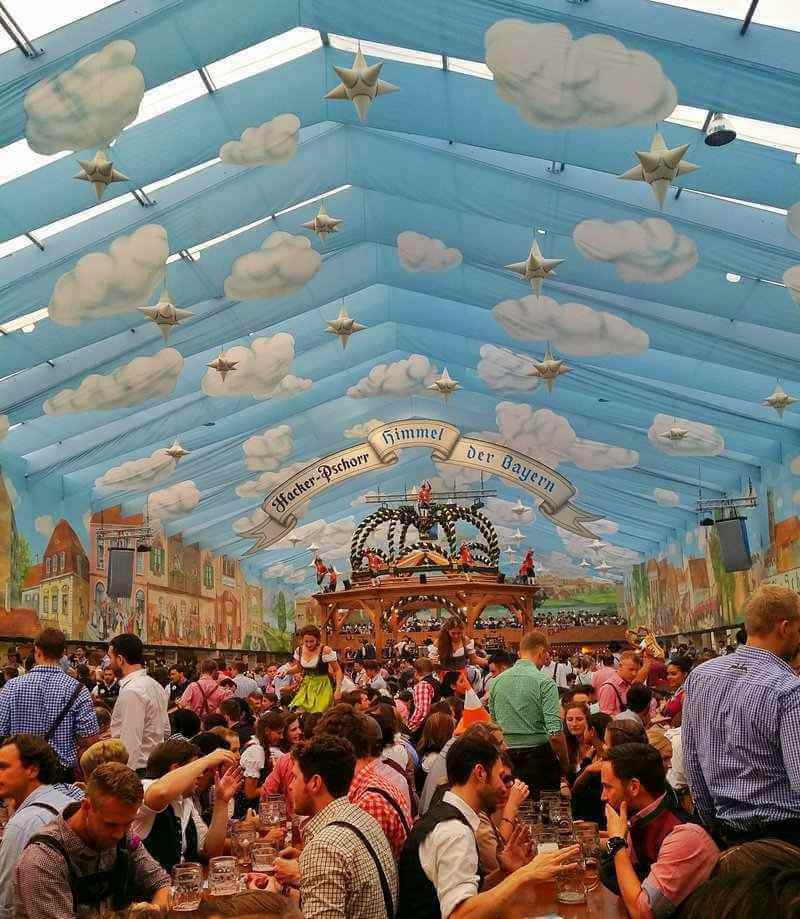 One of the tents at Oktoberfest in Munich, Germany