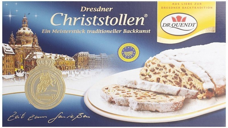 Traditional Stollen Christmas Cake from Dresden is sure to please the tastebuds of someone who loves Germany.