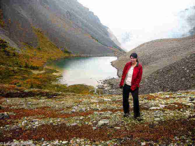 Adventure travel blogger Laurel Robbins hiking in the Canadian Rocky Mountains
