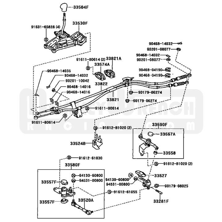 Toyota OEM Shifter Cable (1) – MR2 Spyder 00-05
