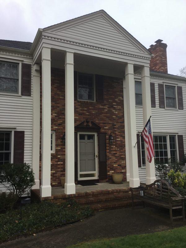 Column Wrap Using Azek Composite  Monks Home Improvements