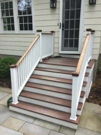 Staining Exterior Stairs in Chatham NJ - Monk's Home ...