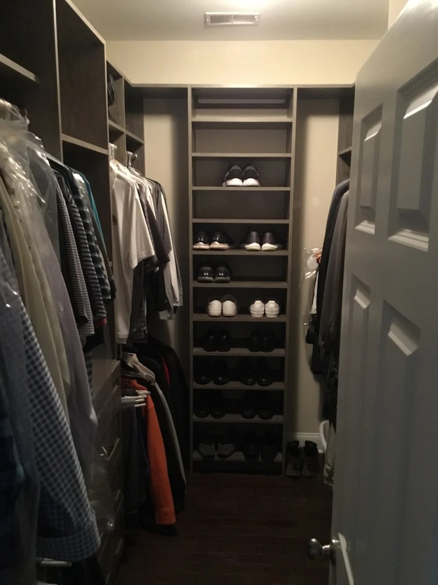 Mens Custom WalkIn Closet  Monks Home Improvements in NJ