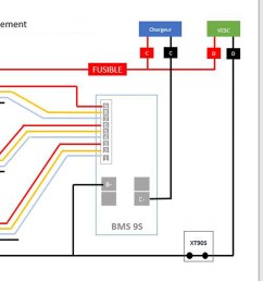 here is a schema in french for a 3x3s lipo and discharge bypass by [ 1446 x 720 Pixel ]