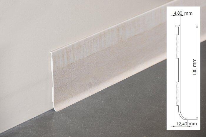 Plinthe à lèvre rigide PVC planche blanchie avec dimensions