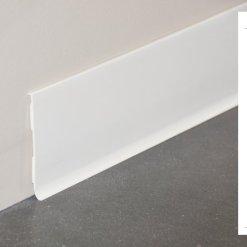 Plinthe rigide à lèvre PVC blanc - 100x10mm