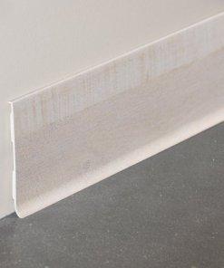 Plinthe rigide à lèvre PVC décor revêtu planche blanchie - 100mm