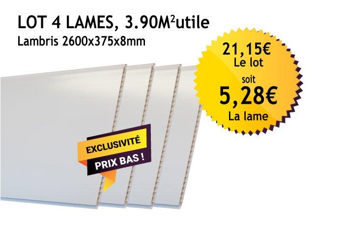 Lambris Pvc Blanc 375mm Pour Le Neuf Ou La Rénovation Monmarchédeco