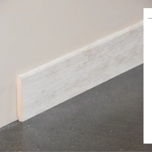 Plinthe MDF décor revêtu frêne clair - 70x10mm + schéma