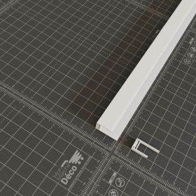 Profil d'arrêt clipsable PVC en blanc