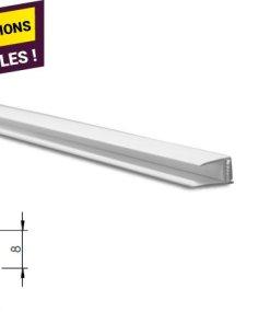 Profil d'arrêt clipsable PVC blanc - Accessoires lambris et profils de finition