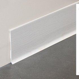 Plinthe à lèvre rigide PVC frêne blanc avec dimensions