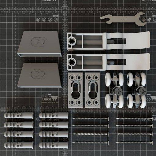 Kit quincaillerie pour rail Coulicool