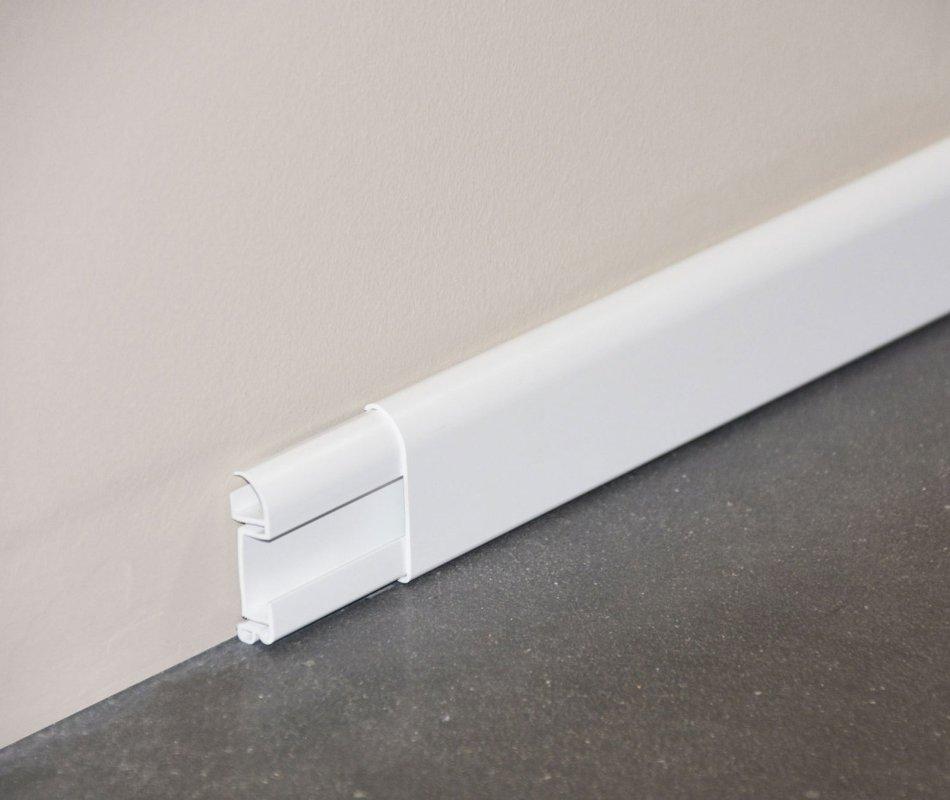 Plinthe cimaise PVC en blanc