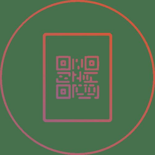 picto d'une affiche avec un qr code pour accéder a mon menu digital