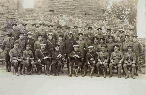 Officers in Castle Square  Monmouth, 1906