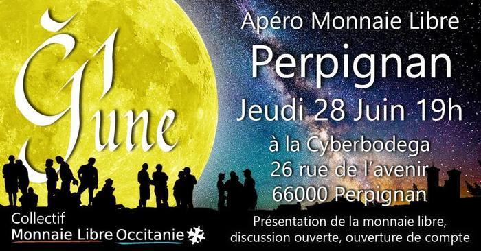 3ème apéro monnaie libre de Perpignan 28 Juin 19h00