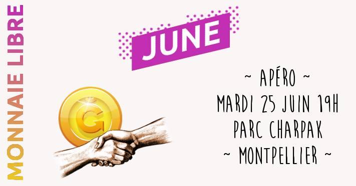 Apéro monnaie libre June à Montpellier