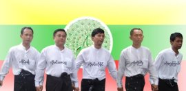 The 88 generation leaders include Ko Min Zay Ya, on the left side, second person.