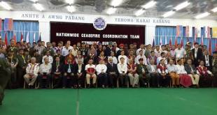 A group photo of respective delegates presented at Nationwide Ceasefire Coordination Team Members' Submit