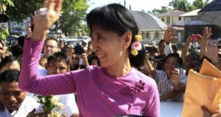 Opposition leader Daw Aung San Suu Kyi, of the National League for Democracy (NLD), seen during 2012 by-elections