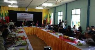 Meeting between NEDA and Burmese representatives regarding Three Pagodas Pass road construction project (Photo: IMNA)