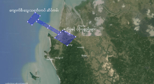 map of the area of land earmarked for the construction of the coal-fired power plant (Photo: IMNA)