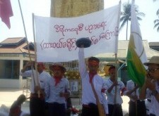 Dawei District students are marching to protest national education law