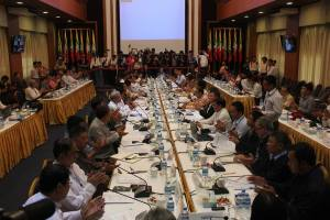 Government and ethnic armed groups setting NCA inking date.