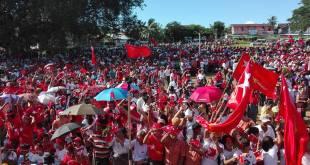 U Tin U speaking in Ye Town ( Photo: Aung Naing Win)