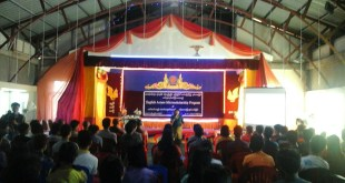 Event annoucement of the 2nd English Access Micro-scholarship Program at Dharthumarlar Monastery (Photo: Guiding Star)