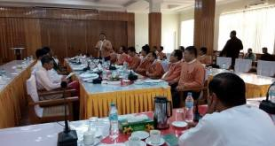 State Hluttaw Chairman, former representatives meet newly elected members (Photo: MNA)